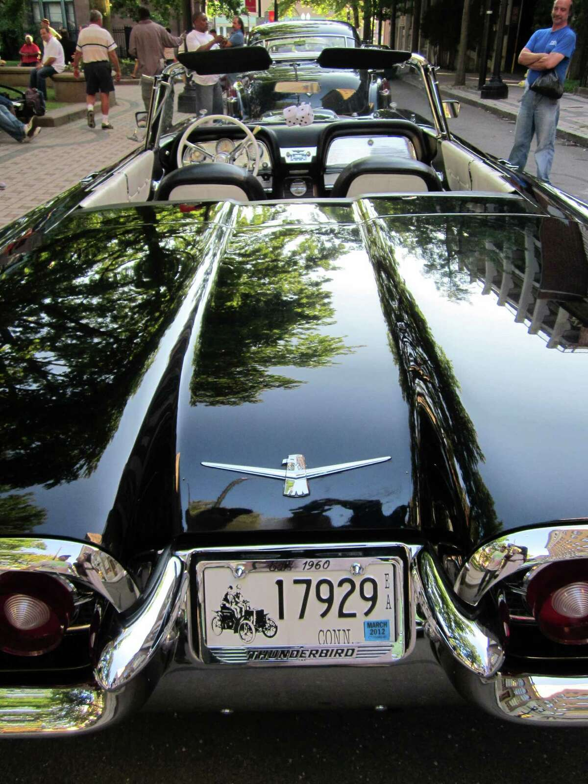 """All types of vintage sports and family autos will be featured during a free """"Cars & Cannoli"""" show Saturday, Oct. 20, in downtown Bridgeport."""