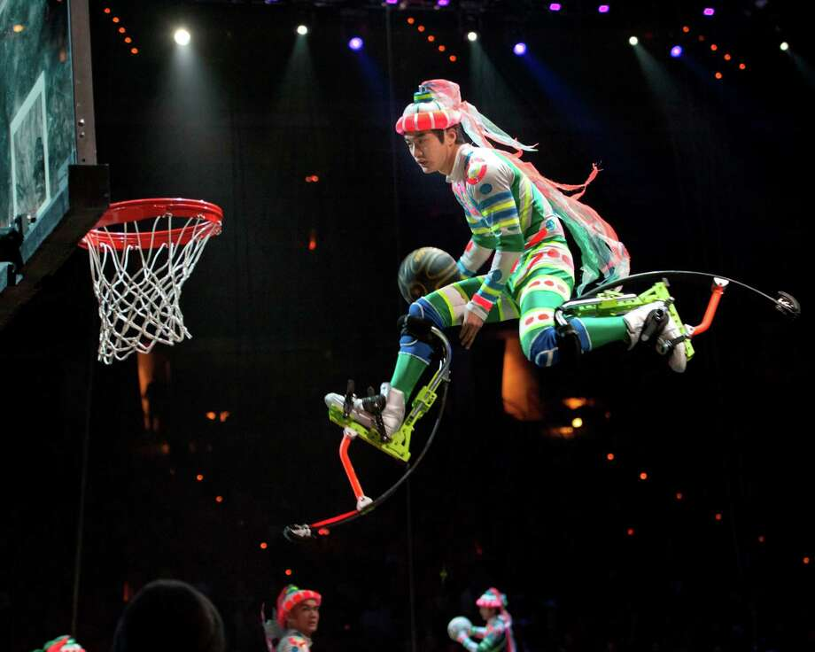 """Fully Charged,"" the new edition of the Ringling Bros. and Barnum & Bailey circus, runs at the Webster Bank Arena, in Bridgeport, Thursday through Sunday, Oct. 18-21. Photo: Contributed Photo"