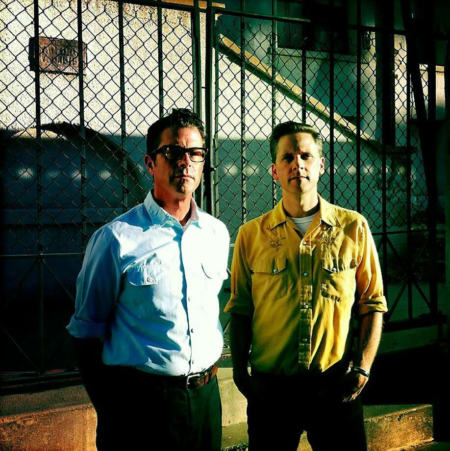 "Guitarist Joey Burns (left) and drummer John Convertino are the core of Calexico, a talented crew of international musicians whose ""Algiers"" is their first album in four years. Photo: Calexico"