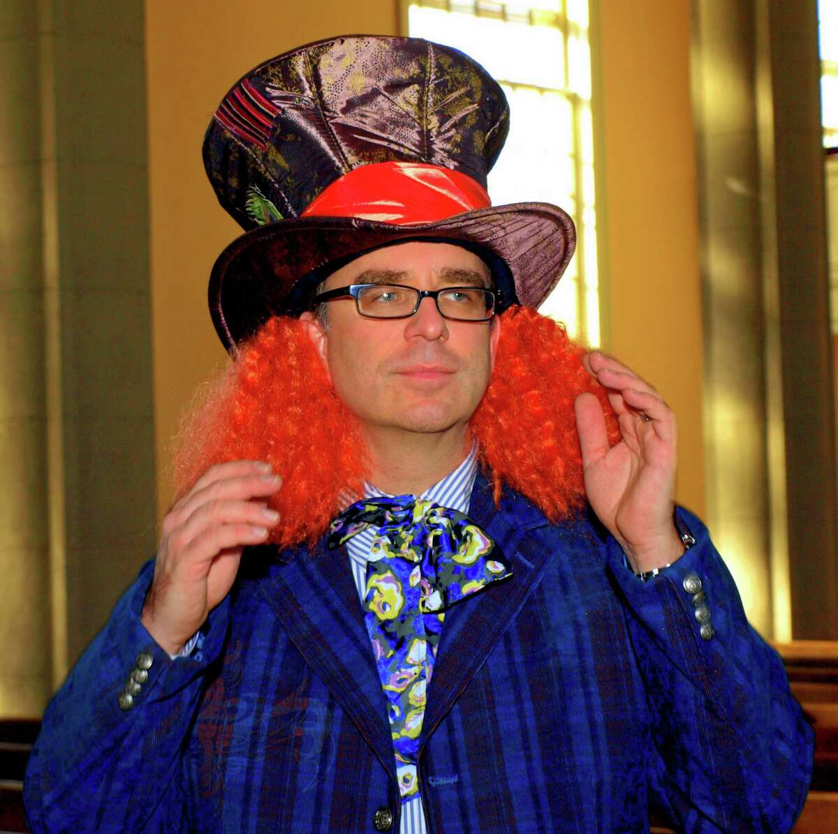 """Dr. John Michniewicz will perform in costume on the pipe organ at the 11th annual """"Pipescreams"""" Halloween Musical Extravaganza Concert Sunday, Oct. 21, in Bridgeport."""