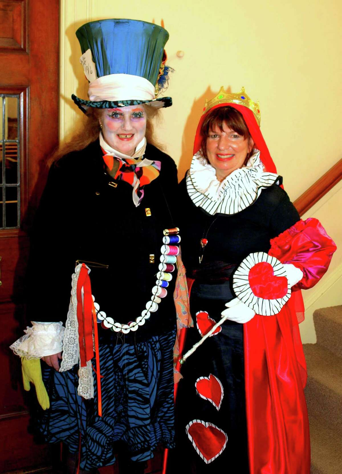 """Elaborate costumes will be a feature of the 11th annual """"Pipescreams"""" Halloween Musical Extravaganza Concert Sunday, Oct. 21, in Bridgeport. Shown at last year's event are, from left, Mimi Eppig and Cathy Tuttle, both of Trumbull."""