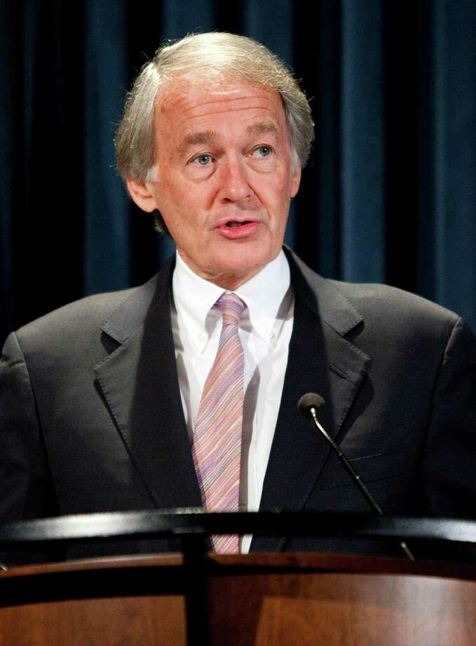 U.S. Representative Ed Markey, a Democrat from Massachusetts, speaks before the signing of a moratorium on mining in the area of the Grand Canyon in Washington, D.C., U.S., on Monday, Jan. 9, 2012. U.S. Interior Secretary Ken Salazar imposed a 20-year ban on new uranium and other hardrock mining near the Grand Canyon National Park to protect the Colorado River basin. Photographer: Joshua Roberts/Bloomberg *** Local Caption *** Ed Markey Photo: Joshua Roberts