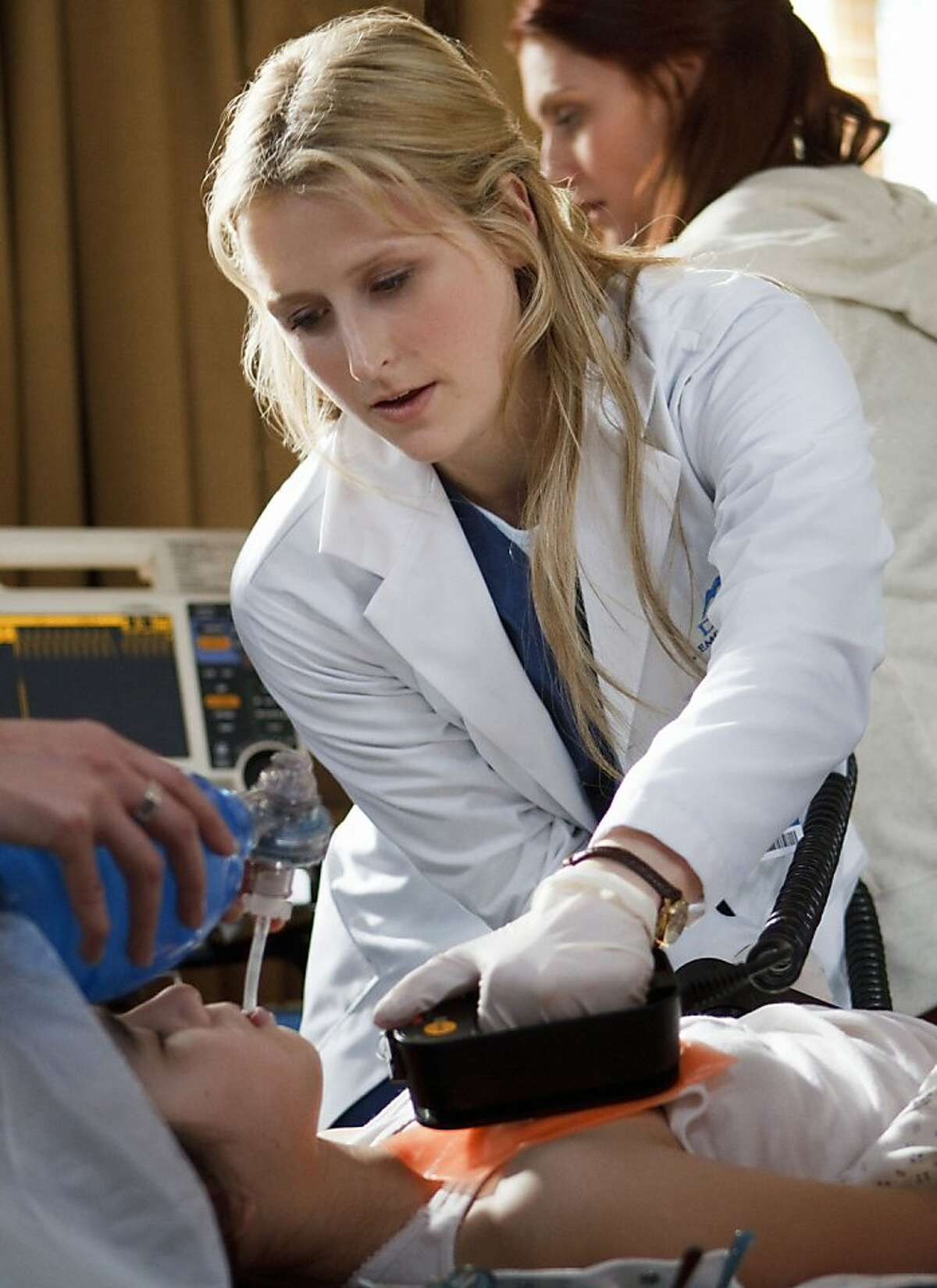 This image released by the CW shows Mamie Gummer in the title role in