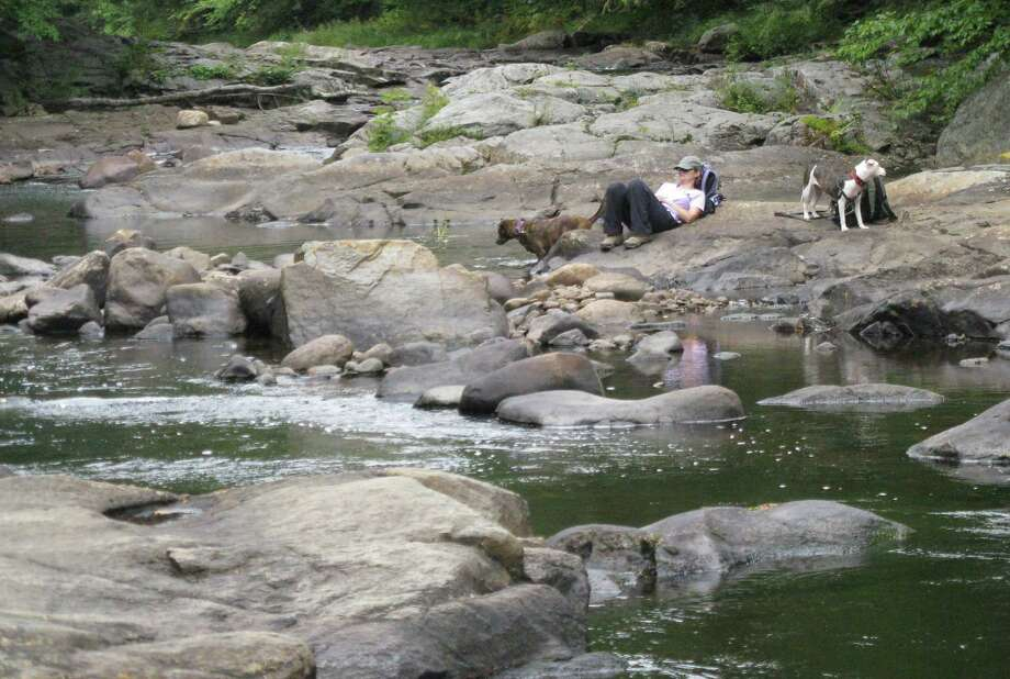 Photo by Herb Terns. Finding a quiet spot to nap above Square Falls along the Sacandaga. Photo: Picasa
