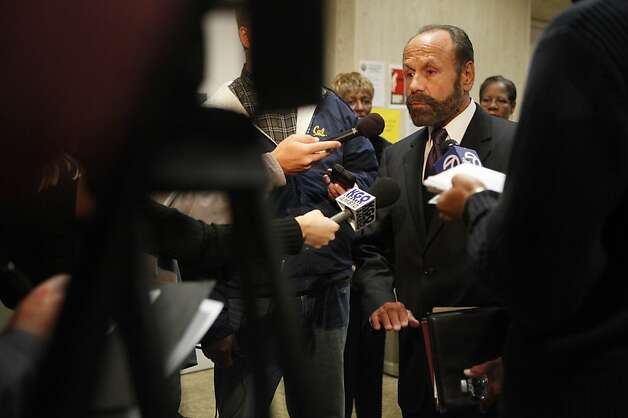 Assemblyman Jerry Hill talks to the media after speaking at a Public Utilities Commission meeting on Thursday, October 11, 2012 in San Francisco, Calif. Photo: Lea Suzuki, The Chronicle