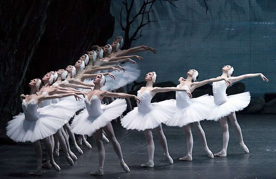 "St. Petersburg Mariinsky Ballet's production of ""Swan Lake"" at Zellerbach Hall brings a corps of unearthly precision and a Romantic vision of the ballet. Photo: Gene Schiavone, Mariinsky Ballet"