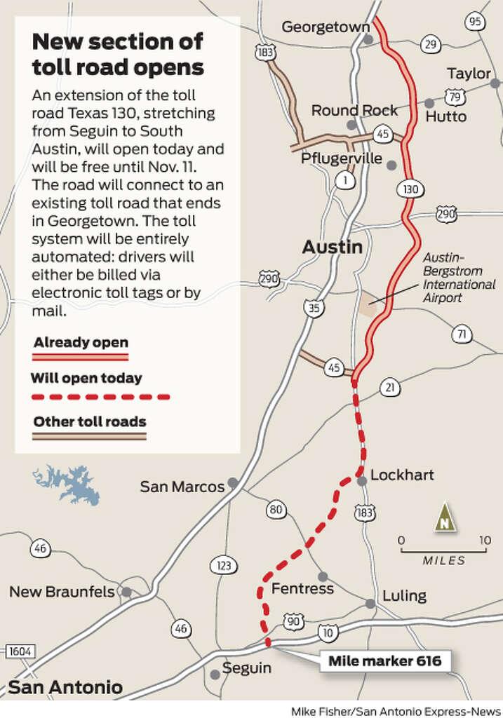 Highspeed toll road opening  San Antonio ExpressNews