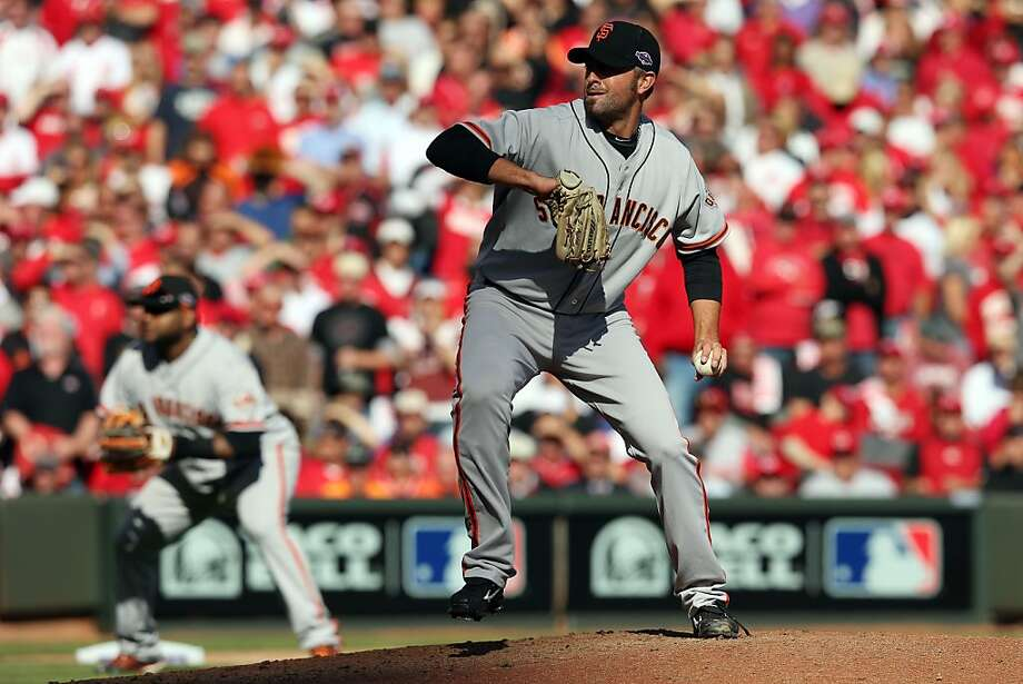 The action continued for Jeremy Affeldt after his scoreless inning. Photo: Jonathan Daniel, Getty Images