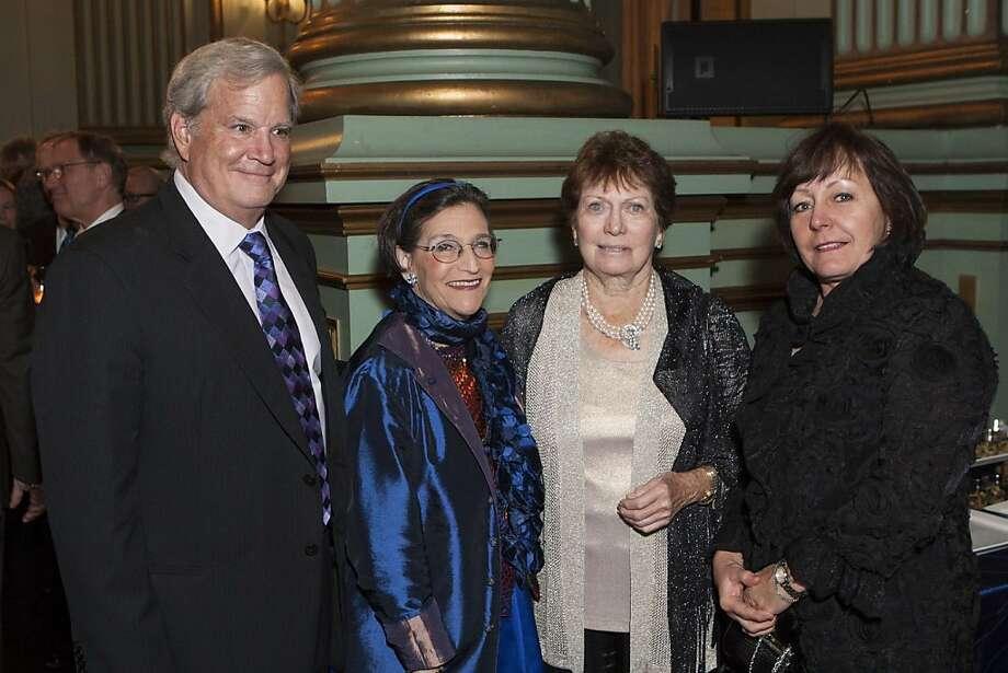 From left: Richard Janssen, Karen Kriendler Nelson, Carol Franc Buck and Linda Nicoll. Photo: Drew Altizer Photography