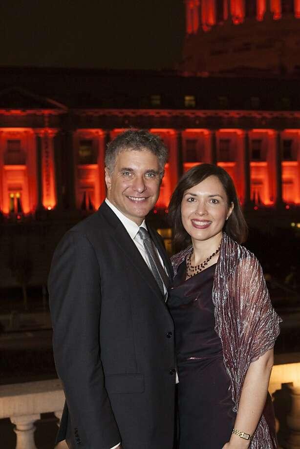 Librettist Gene Scheer with Christina Scheer. Photo: Drew Altizer Photography