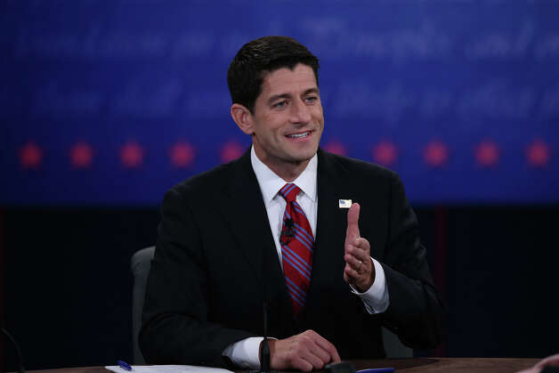 DANVILLE, KY - OCTOBER 11:  U.S. Rep. Paul Ryan (R-WI) speaks during the vice presidential debate at Centre College October 11, 2012 in Danville, Kentucky.  This is the second of four debates during the presidential election season and the only debate between the vice presidential candidates before the closely-contested election November 6.  (Photo by Justin Sullivan/Getty Images) Photo: Justin Sullivan, Getty Images / 2012 Getty Images