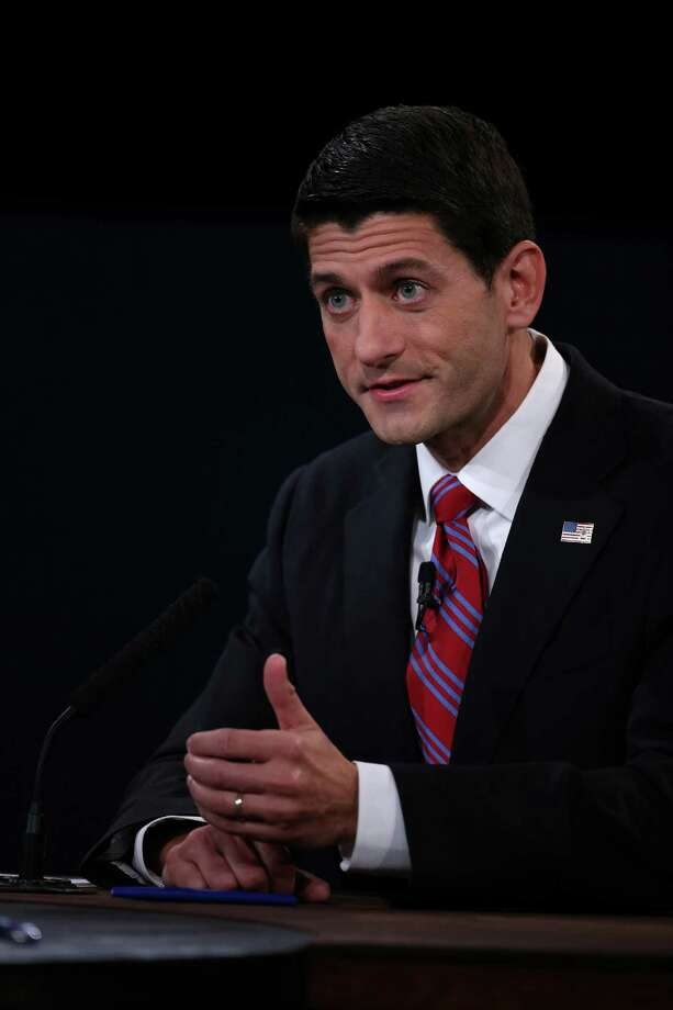 DANVILLE, KY - OCTOBER 11:  U.S. Rep. Paul Ryan (R-WI) speaks during the vice presidential debate at Centre College October 11, 2012 in Danville, Kentucky.  This is the second of four debates during the presidential election season and the only debate between the vice presidential candidates before the closely-contested election November 6.  (Photo by Chip Somodevilla/Getty Images) Photo: Chip Somodevilla, Getty Images / 2012 Getty Images