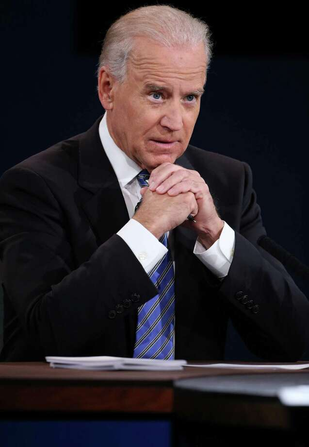 DANVILLE, KY - OCTOBER 11:  U.S. Vice President Joe Biden listens during the vice presidential debate at Centre College October 11, 2012 in Danville, Kentucky.  This is the second of four debates during the presidential election season and the only debate between the vice presidential candidates before the closely-contested election November 6.  (Photo by Chip Somodevilla/Getty Images) Photo: Chip Somodevilla, Getty Images / 2012 Getty Images