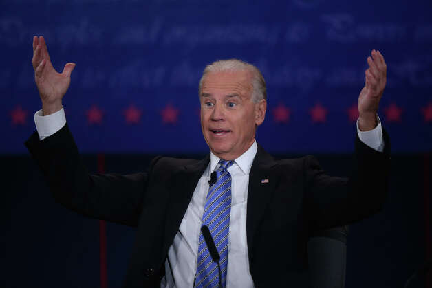 DANVILLE, KY - OCTOBER 11:  U.S. Vice President Joe Biden speaks during the vice presidential debate at Centre College October 11, 2012 in Danville, Kentucky.  This is the second of four debates during the presidential election season and the only debate between the vice presidential candidates before the closely-contested election November 6.  (Photo by Alex Wong/Getty Images) Photo: Alex Wong, Getty Images / 2012 Getty Images