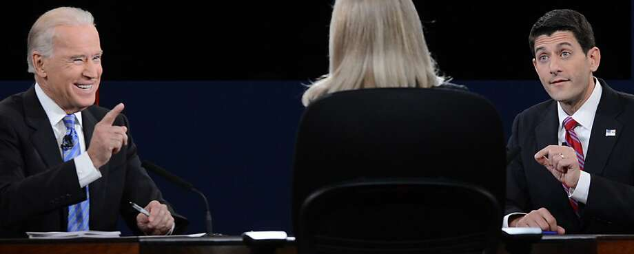 Vice President Joe Biden and Rep. Paul Ryan square off at the debate in Danville, Ky., Photo: Saul Loeb, AFP/Getty Images
