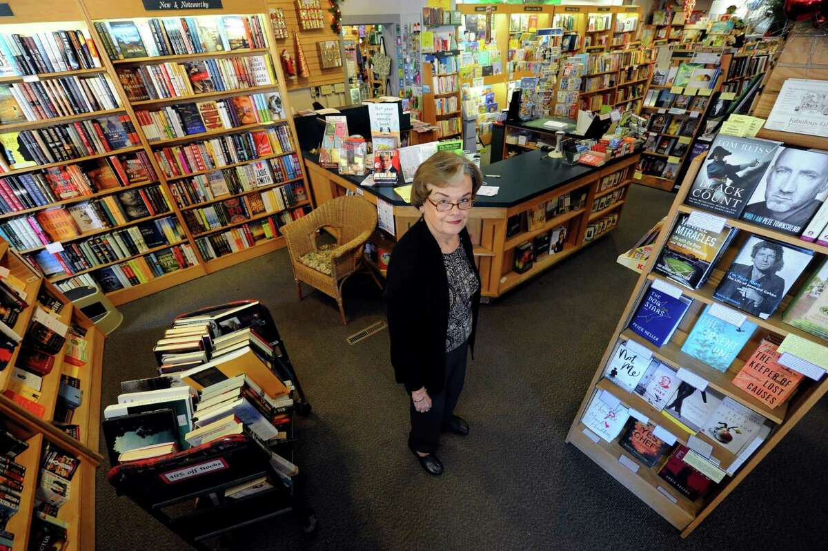 The Open Door Bookstore owner Janet Hutchison, who is retiring after 30 years and selling the business on Jay Street in Schenectady, NY Thursday Oct. 11, 2012. (Michael P. Farrell/Times Union)