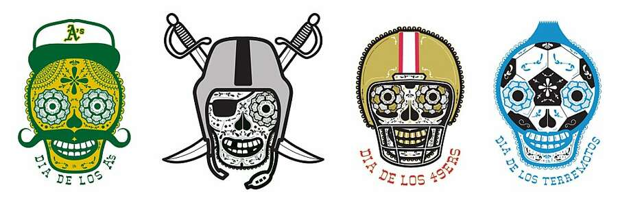 Illustrator John Sherlock Hersey's Giants sugar skull spawned other sports models. Photo: John Hersey