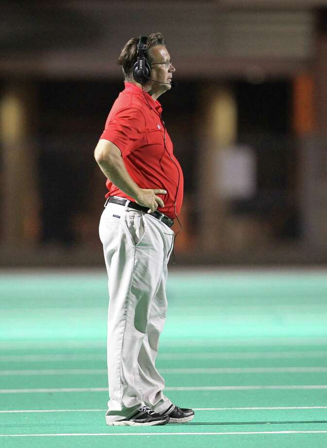 Alief Taylor's head coach J.D. Jordan during the second half of the Nimitz High school football game played against Alief Taylor at Crump Stadium, Thursday, Oct. 11, 2012, in Houston. Alief Taylor won the game 28-7. Photo: Karen Warren, Houston Chronicle / © 2012  Houston Chronicle