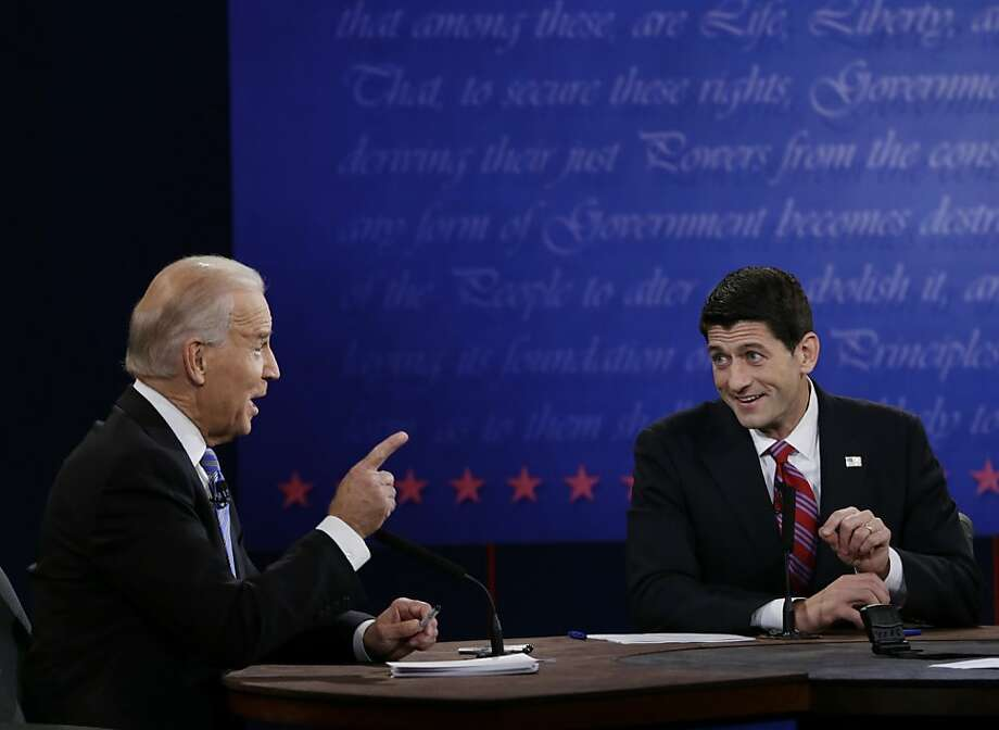 Vice President Joe Biden (left) and GOP vice presidential nominee Rep. Paul Ryan, R-Wis., debate in Danville, Ky. Photo: Eric Gay, Associated Press