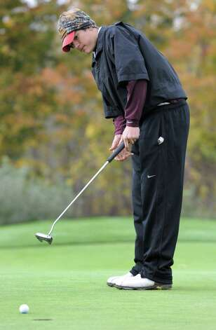 Luke Goldstock of Niskayuna putts on during the Section II state qualifier golf tournament at Orchard Creek Golf Course Thursday, Oct. 11, 2012 in Altamont, N.Y.  (Lori Van Buren / Times Union) Photo: Lori Van Buren