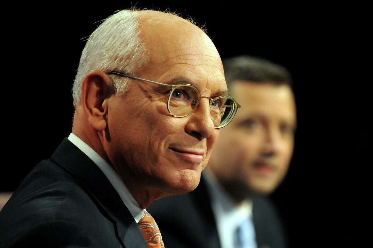 Rep. Paul Tonko, left, and challenger Bob Dieterich before their debate for the 20th Congressional District on Thursday, Oct. 11, 2012, at WMHT Studios in North Greenbush, N.Y. (Cindy Schultz / Times Union)