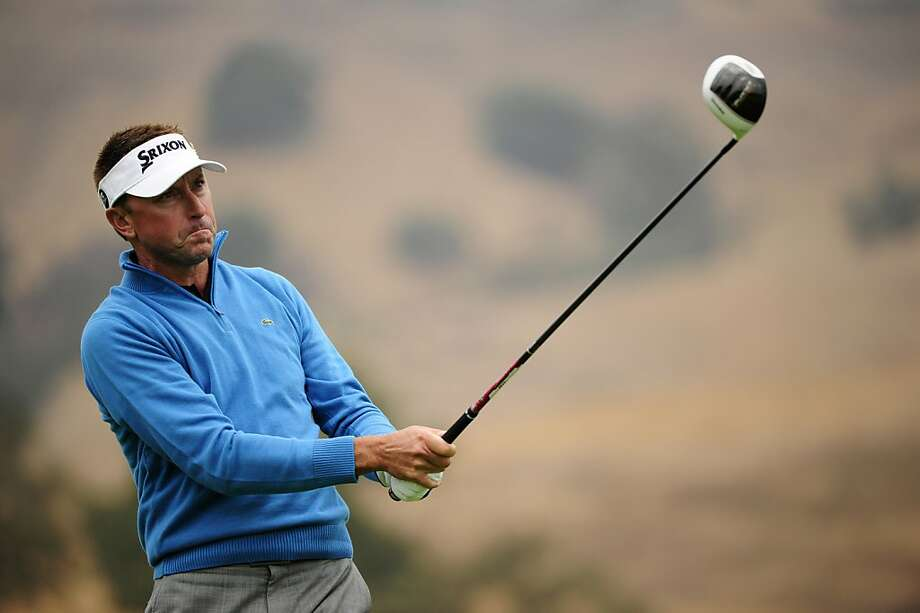 SAN MARTIN, CA - OCTOBER 11:  Robert Allenby of Australia hits a tee shot on the sixth hole during round one of the Frys.com Open at the CordeValle Golf Club on October 11, 2012 in San Martin, California.  (Photo by Robert Laberge/Getty Images) Photo: Robert Laberge, Getty Images
