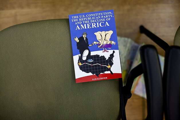 A book rests on a chair as members of the Rossmoor Democratic Club watch the Vice Presidential debate at the Creekside Country Club in Rossmoor, Calif., Thursday, October 11, 2012. Photo: Jason Henry, Special To The Chronicle