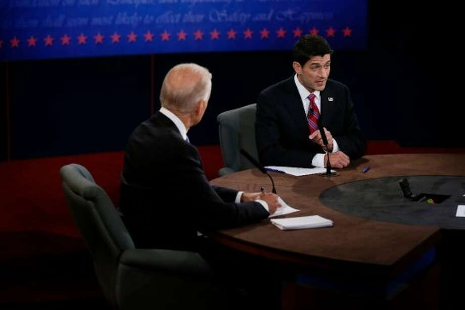 DANVILLE, KY - OCTOBER 11:  U.S. Vice President Joe Biden (L) and Republican vice presidential candidate U.S. Rep. Paul Ryan (R-WI) participate in the vice presidential debate at Centre College on October 11, 2012 in Danville, Kentucky. This is the second of four debates during the presidential election season and the only debate between the vice presidential candidates before the closely-contested election November 6.  (Photo by Rick Wilking-Pool/Getty Images) (Getty Images)