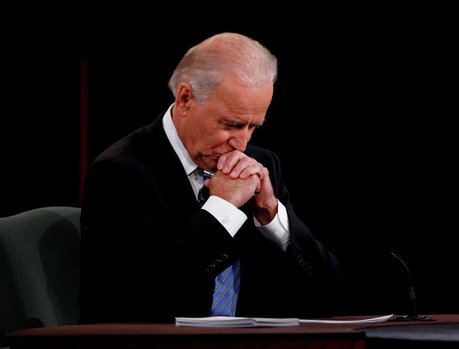 Vice President Joe Biden listens to his opponent, Congressman Paul Ryan, during the Vice Presidential Debate at Centre College in Danville, Kentucky. (Mark Cornelison/Lexington Herald-Leader/MCT) Photo: Mark Cornelison, McClatchy-Tribune News Service / Lexington Herald-Leader