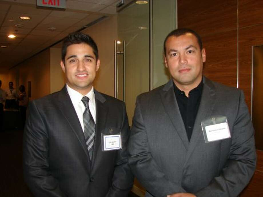 Josh Aguilar (CBRE) and Geronimo Velasco (Ridge Property Trust).