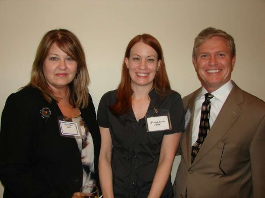 Laurie Wier, Elisabeth Dushner and Paul Noetzel with CBRE asset services.