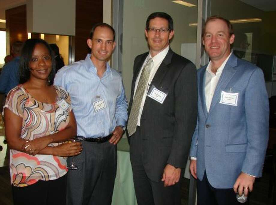 CBRE employees Renee Tate, Taylor Dorris, Scott Senese and Gene Williams.