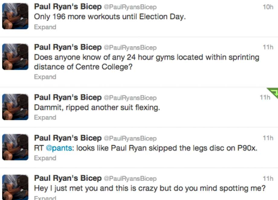 Screenshot of @PaulRyansBicep's timeline. (Jana Kasperkevic / Houston Chronicle)