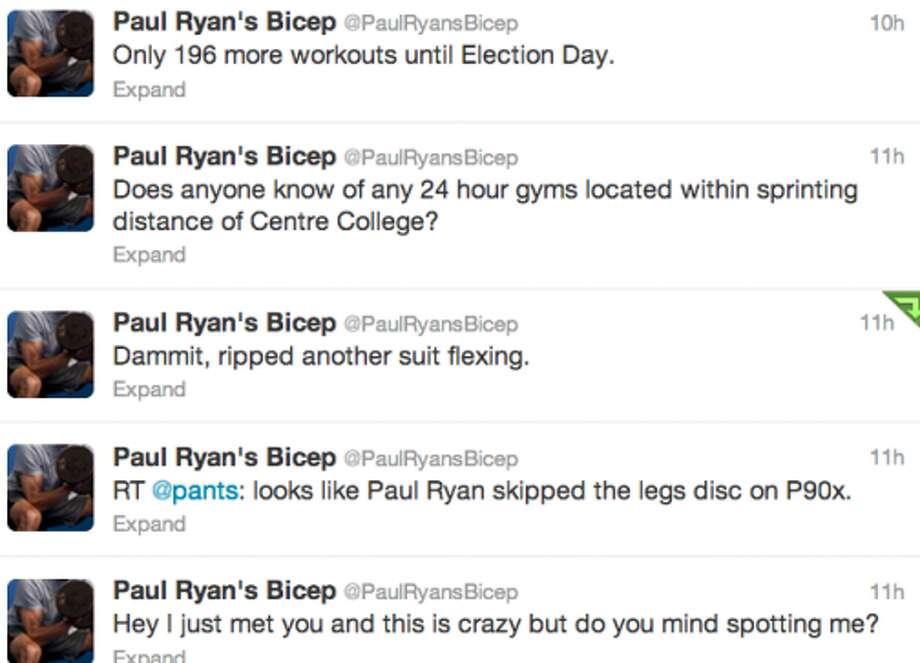 Screenshot of @PaulRyansBicep's timeline. (Jana Kasperkevic / Houston Chronicle)