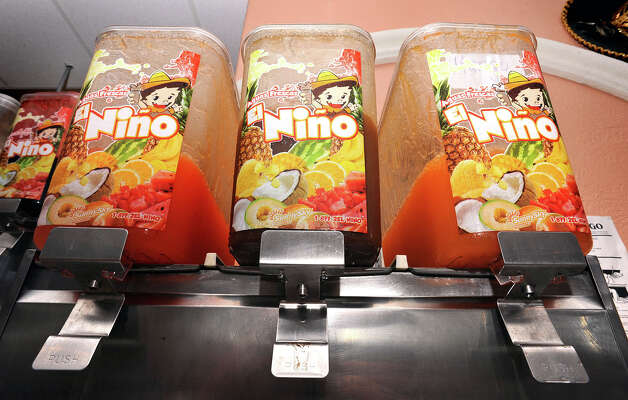 El Nino drink machines at Taqueria Cotija in Nederland. 3720 Avenue E Nederland, Texas. Photo taken Wednesday, October 3, 2012 Guiseppe Barranco/The Enterprise Photo: Guiseppe Barranco, STAFF PHOTOGRAPHER / The Beaumont Enterprise