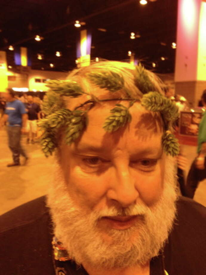 Unidentified hophead, spotted at the Great American Beer Festival on Thursday. (Ronnie Crocker / Beer, TX)