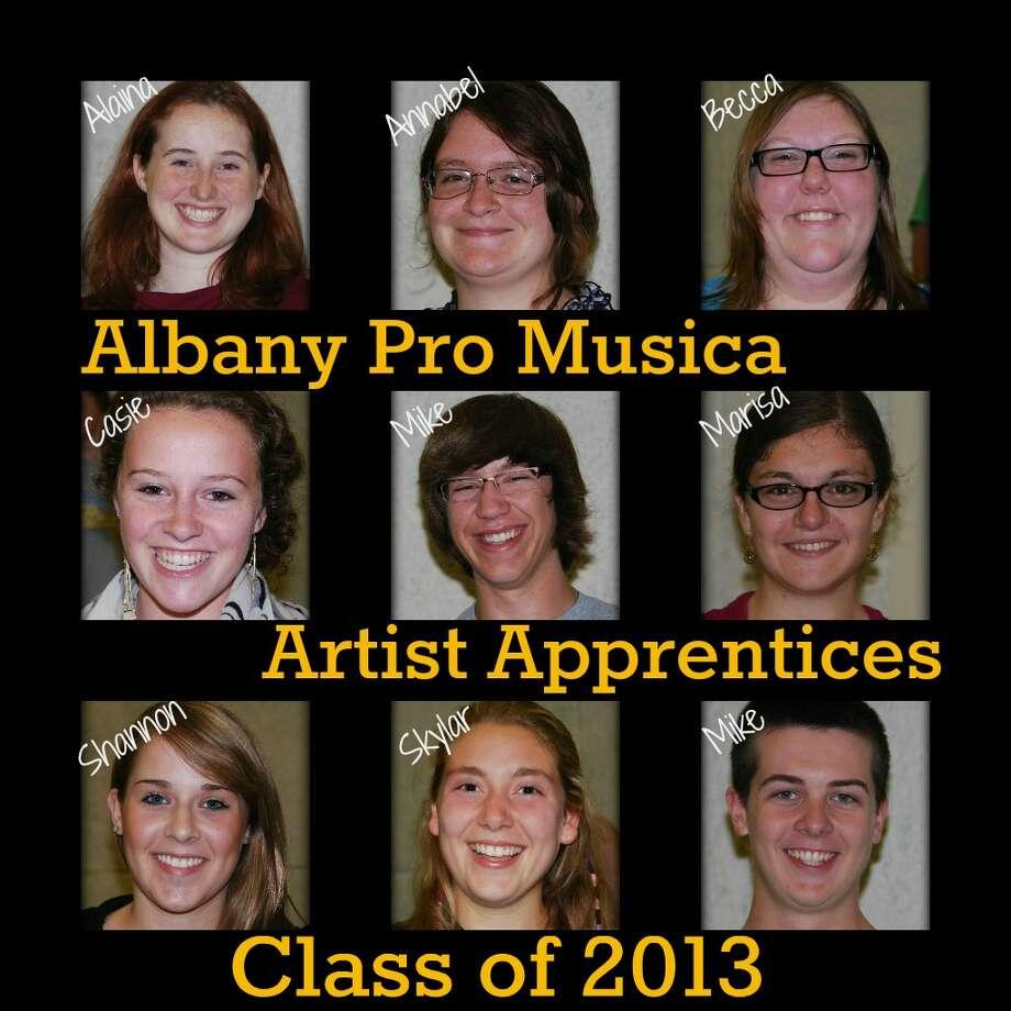 Albany Pro Musica's Artist Apprentices for 2012