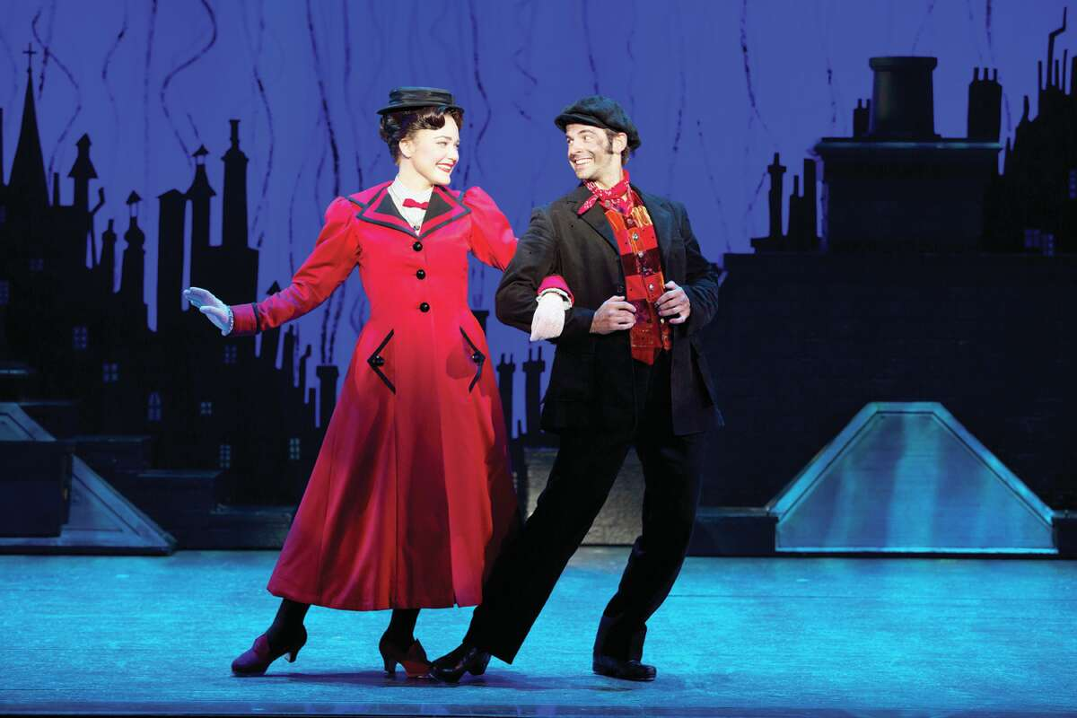 Madeline Trumble and Con O?Shea-Creal in MARY POPPINS. Photo: Jeremy Daniel
