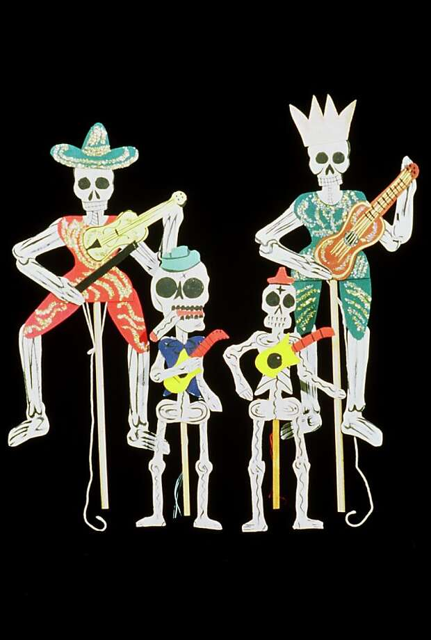 The four Pedro Linares Puppets are part of the celebration of El Día de los Muertos (the Day of the Dead) at the Mexican Museum's Family Sunday this week at Fort Mason in San Francisco. For information, call (415) 202-9700 or go to  www.mexicanmuseum.org. Photo: Mexican Museum