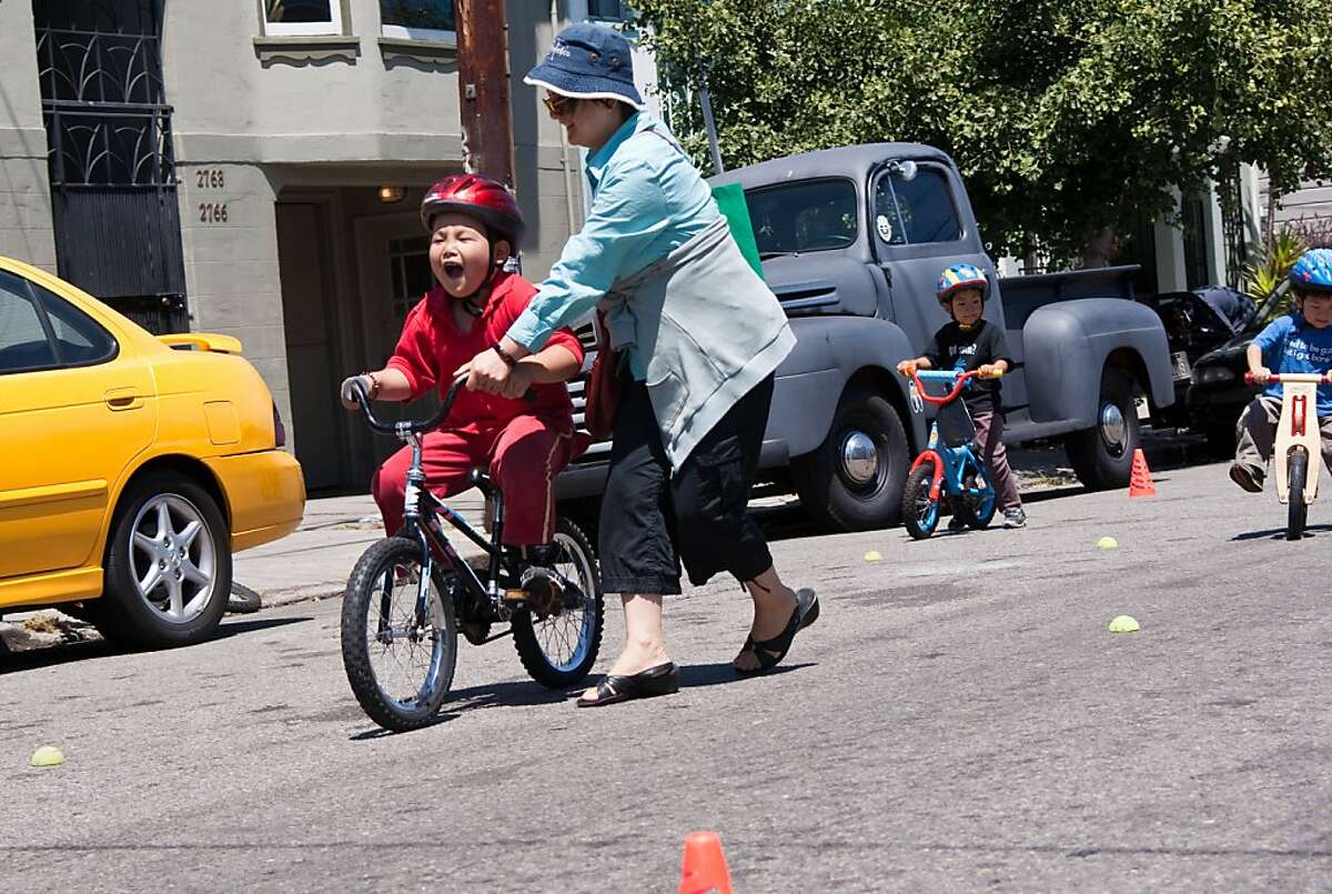 Participant in the Freedom From Training Wheels program