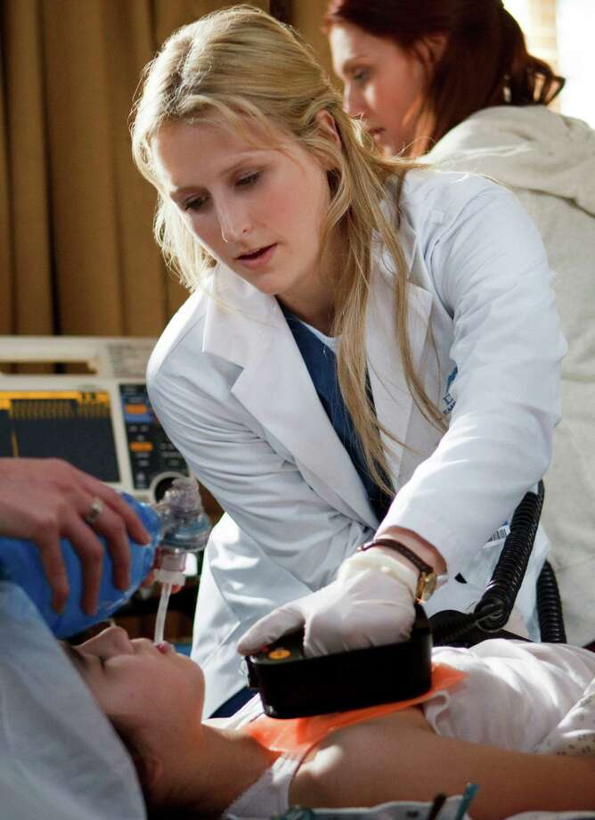 "Mamie Gummer stars in the title role in ""Emily Owens, M.D.,"" which premiers Tuesday. Photo: Michael Courtney / The CW"