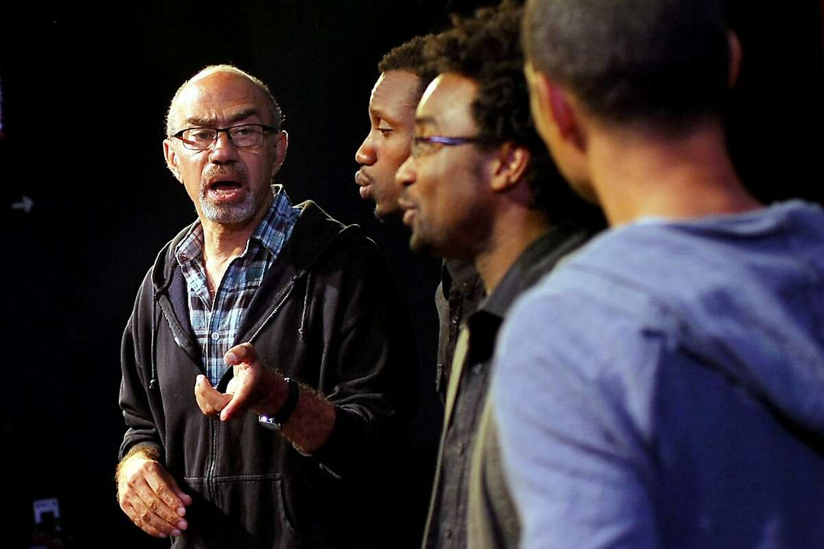 """Brian Freeman directs a rehearsal of """"Fierce Love: Stories from Black Gay Life"""" at the New Conservatory Theatre Center in San Francisco, Calif., Tuesday, October 9, 2012."""