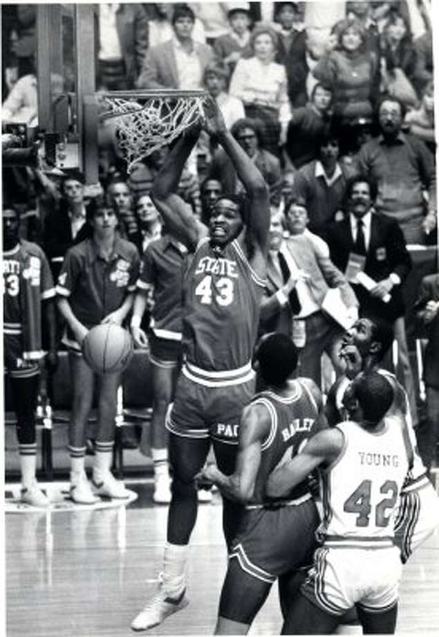 Lorenzo Charles -- Lo and behold, look what I found. The accidental dunk cost the Cougars a national title and – probably, if unfairly - Guy Lewis his rightful place in the Basketball Hall of Fame.