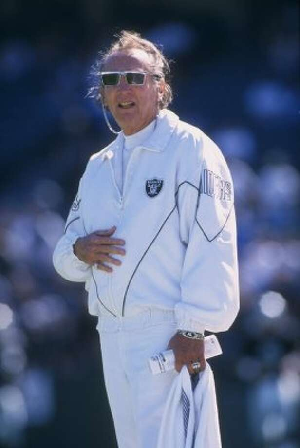Al Davis -- His Raiders knocked the Oilers out of the playoffs three times. And he suckered Bum Phillips into taking Kenny Stabler, Dave Casper and Jack Tatum when they were so far over the hill they couldn't even see it.    (Otto Greule Jr / Getty)