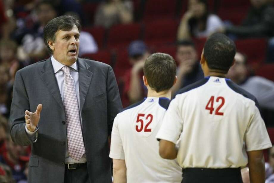 Kevin McHale -- OK. Lurch, we're happy to have you on our side. Now, you owe us a championship.  (Michael Paulsen / Houston Chronicle)