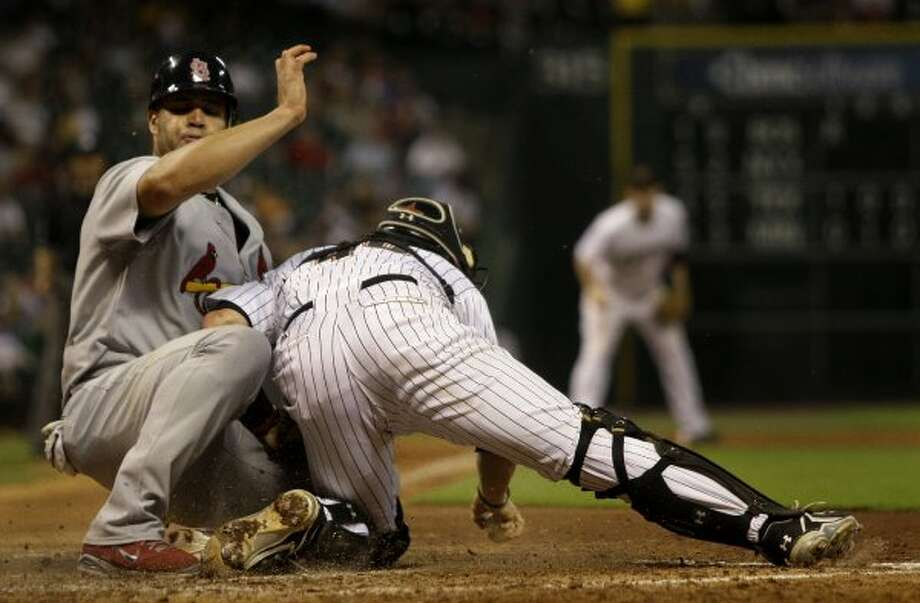 Albert Pujols -- NASA scientists are still looking for that dinger he hit off Brad Lidge in '05. Show off! And now we've got to put up with him in the AL West.  (Melissa Phillip / Houston Chronicle)