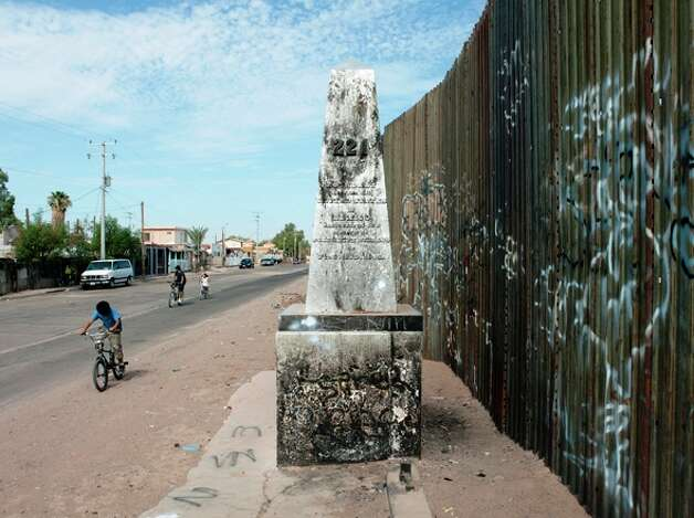 Taylor photographed Number 211 as he documented   border monuments stretching from the Rio Grande to the Pacific.  Photo: Courtesy, David Taylor