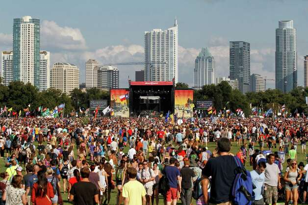 Music fans work their way around the Austin City Limits Music Festival, Friday, Oct. 12 2012 in Austin, Texas.(Photo by Jack Plunkett/Invision/AP) Photo: Jack Plunkett, Associated Press / Invision
