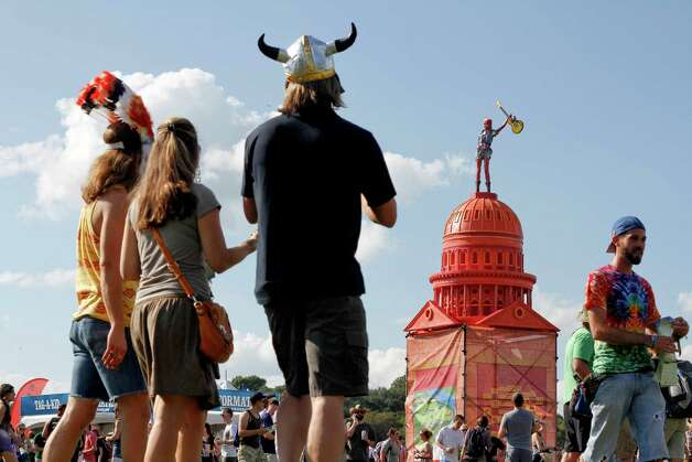 Music fans arrive at the Austin City Limits Music Festival on Friday, Oct. 12 2012 in Austin, Texas.(Photo by Jack Plunkett/Invision/AP) Photo: Jack Plunkett, Associated Press / Invision