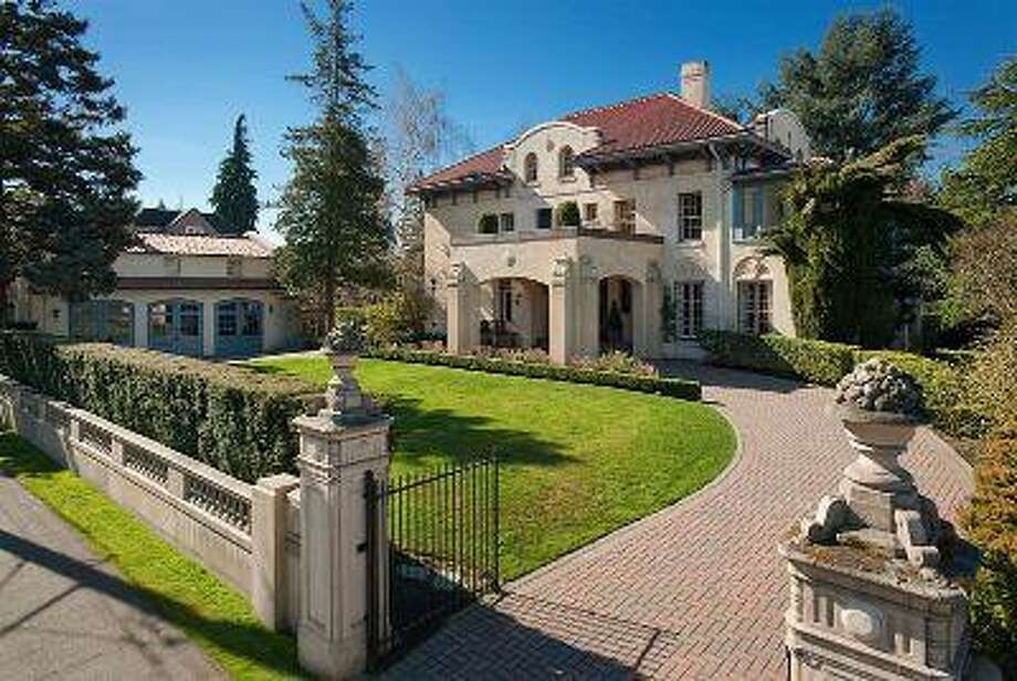 One of Seattle's most notable homes is up for sale. The Mediterranean Revival estate -- 1255 Federal Ave. E., in Capitol Hill -- was designed by Seattle architectural partnership Bebb and Gould, which also was responsible for the Seattle Asian Art Museum in neighboring Volunteer Park, the Times Square Building, the University of Washington Suzzallo Library and the U.S. Government Administration Building at Hiram Chittenden Locks. The 9,100-square-foot house, built in 1910, has four bedrooms, 5.75 bathrooms, marble floors, beamed ceilings, exposed-wood paneling, French doors, a wet bar, a wine cellar, a sauna, a solarium, a carriage house with parking for three-cars, patios and a circular driveway on a landscaped 30,000-square-foot lot. It's listed for $4.875 million. Photo: Courtesy Pam Johnson/Windermere Real Estate